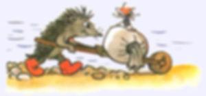 ёжик возит грибы на телеге.jpg
