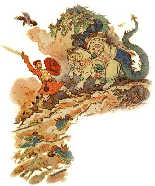 иван сражается с чудо-юдо на калиновом м