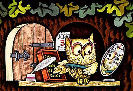 сова смотрится в зеркало сказка в детско