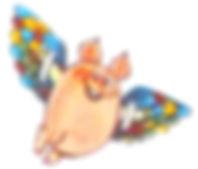 летящий на крыльях поросёнок в сказке Пр