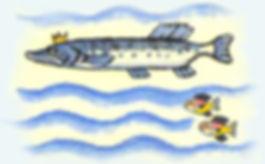 щука в воде сказка детский журнал Юмораш