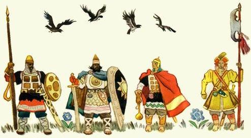 Братья собираются к царю на пир сказка.j