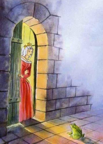 Сказка с картинками Братьев Гримм Принц-