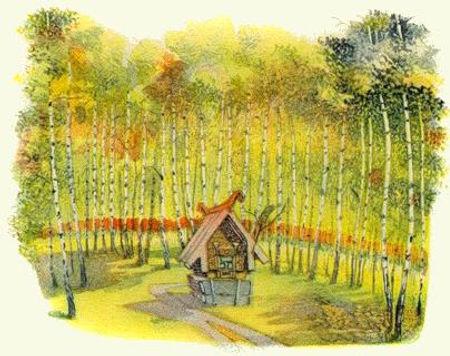 домик в лесу сказка Петушок-золотой греб