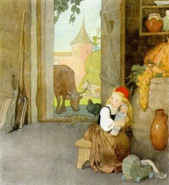 Красная шапочка собирается к бабушке дет