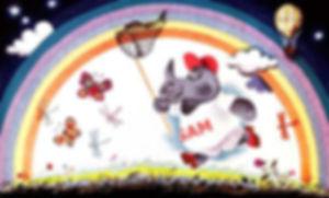 носорог с сачком ловит бабочек сказка в