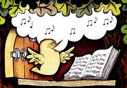 птичка поет песенки в домике совы сказка