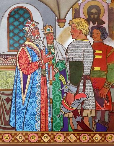 алеша попович встречается с князем киевс