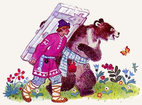 Иван тащит дверь с медведем сказка.jpg