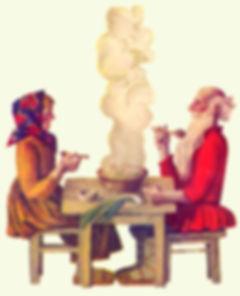 дед с бабкой сидят у самовара сказка дет