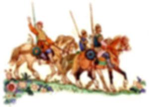 иван с братьями на коне едет в дружину.j