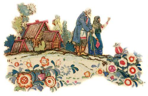 Бабка с дедом провожают сыновей на бой с