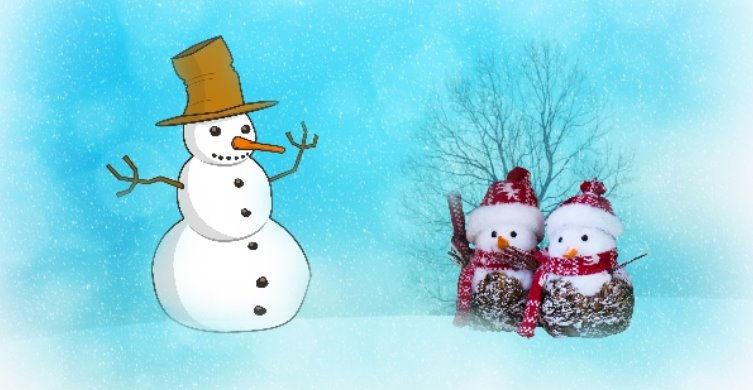 снеговик стихи для детей о зиме детский