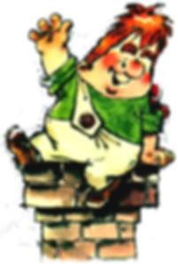 Карлон сидит на крыше детский сайт Юмора