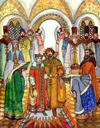 свадебный пир в русском тереме в сказке
