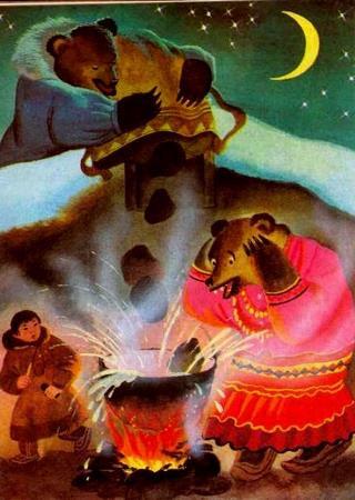 Тала-медведь и великий колдун саамская с