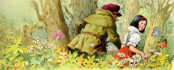 Слуга и Белоснежка в лесу детский сайт Ю