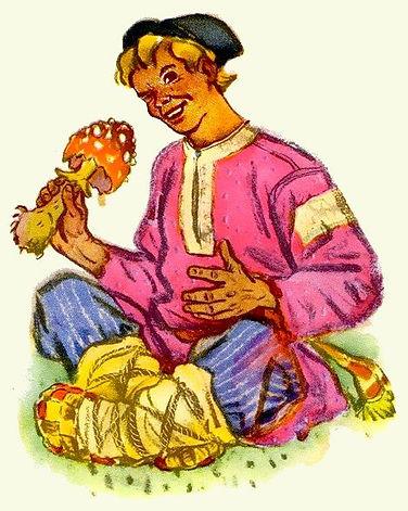 Иван сидит с мухомором в руках сказка.jp