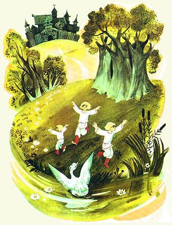 дети увидели уточку на воде сказка детск