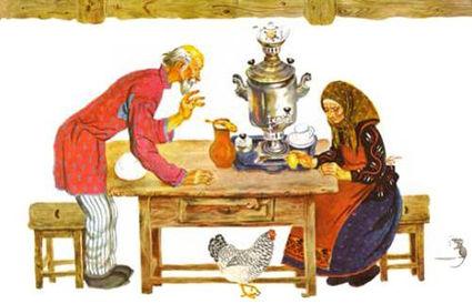 Народная сказка курочка ряба в детском ж