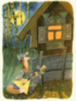 лиса поёт песни под окном сказка.jpg