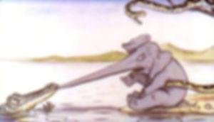 Для маленьких сказка Слонёнок  детский с