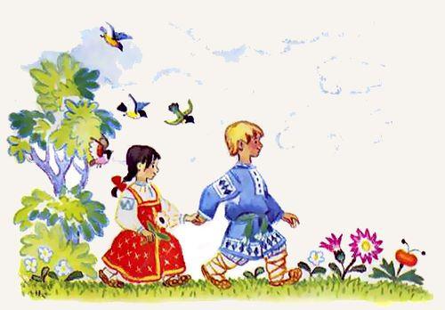 дети идут по лесу сказка.jpg