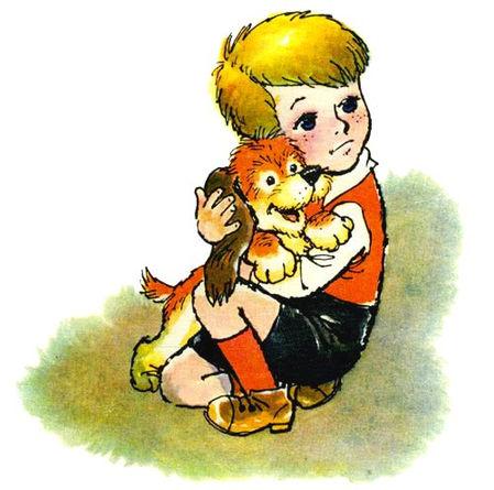 Малыш обнимает щенка.jpg
