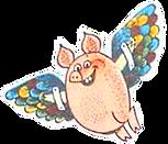 летящий на крыльях поросёнок в сказке.pn