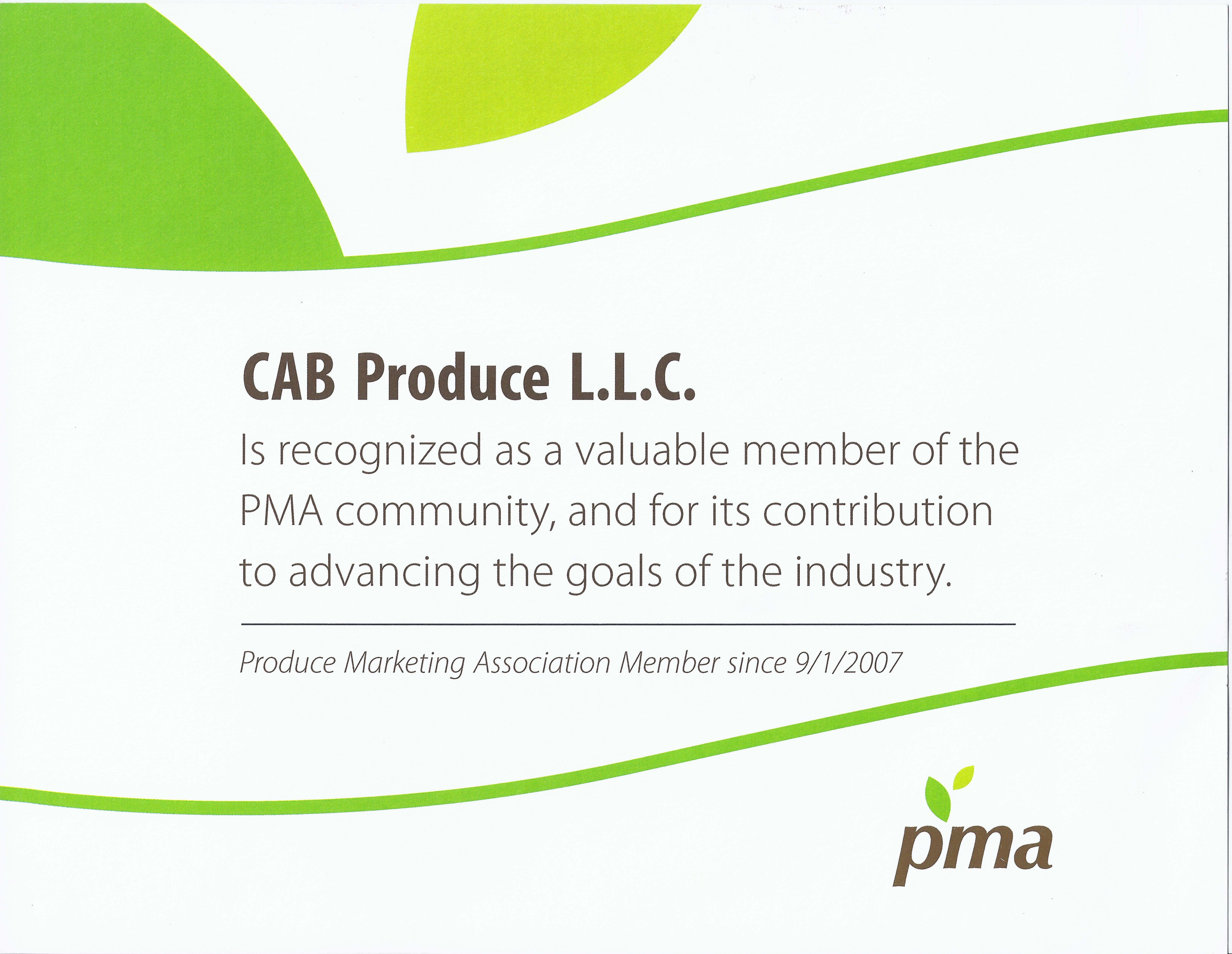 PMA Recognition