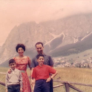Mom, Dad, Lou, and Robert on our trip across the USA