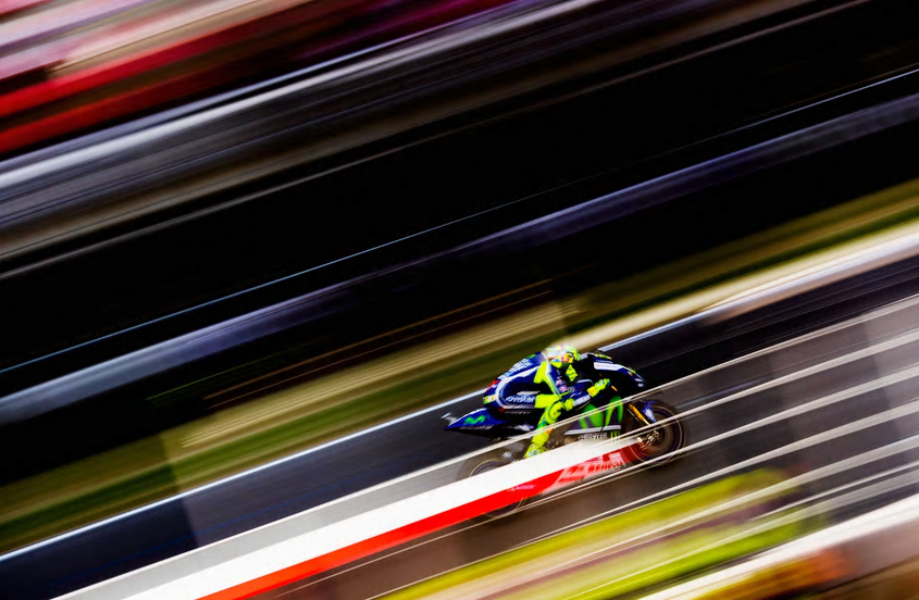 Rossi at Speed
