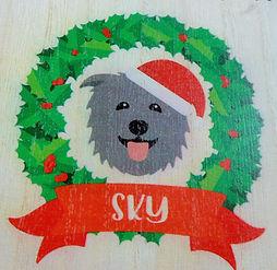 Sky 🎅 Wooden Advent Calendar 🎄 Yappy.com 🐾 www.teamhrach.com