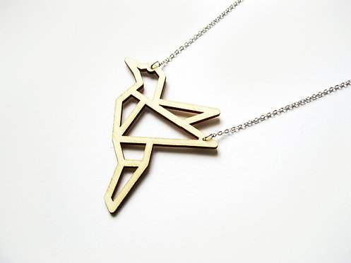 ALIZI.PLAY-WOOD Pendant - bird - outline