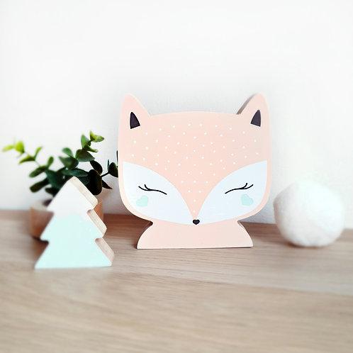 FOX + TREE (peach / mint)