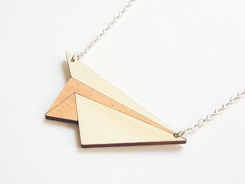 ALIZI.PLAY-WOOD Pendant - paper plane - peach