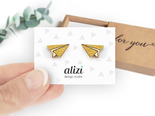 Earrings - Planes - Gold