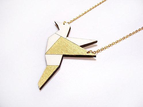 ALIZI.PLAYWOOD Pendant - bird - gold