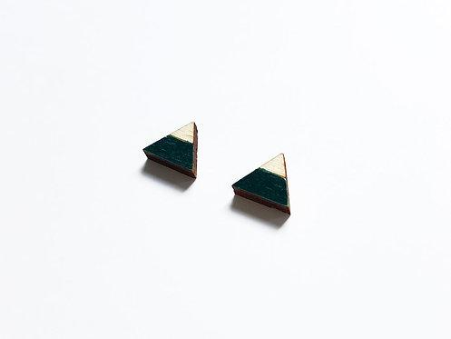 ALIZI.PLAY-WOOD Earrings - triangle split - black
