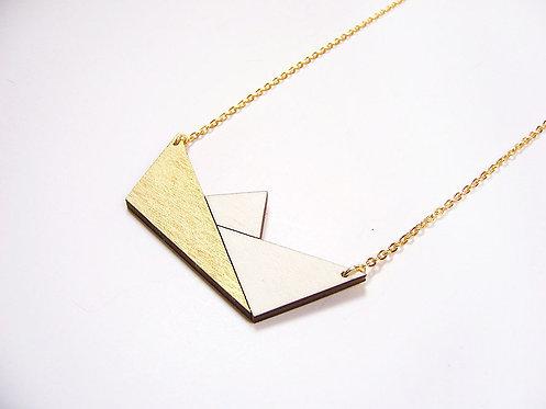 ALIZI.PLAYWOOD Pendant - paper boat - gold