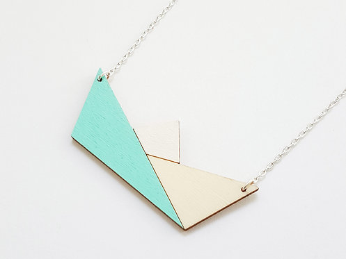 ALIZI.PLAYWOOD Pendant - paper boat - mint