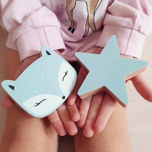 WALL GALLERY - FOX+ STAR (mint / mint)