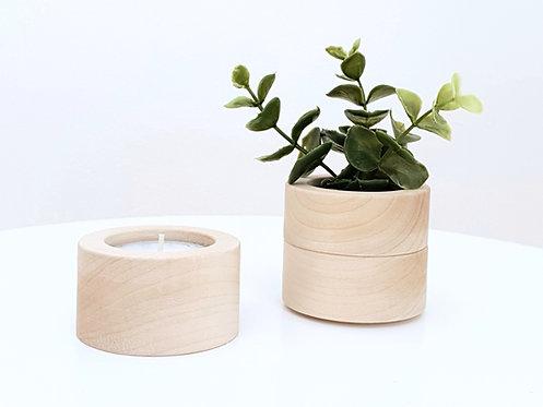 ALIZI.STACK CANDLEHOLDER - pure wood