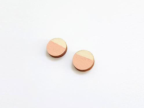 Earrings - cirles - peach