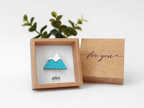 MINI Brooch - Mountain - Turquoise