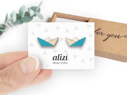 Earrings - Boats - Turquoise