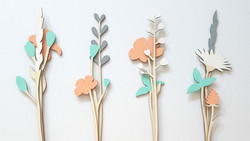 alizi spring - wooden flowers
