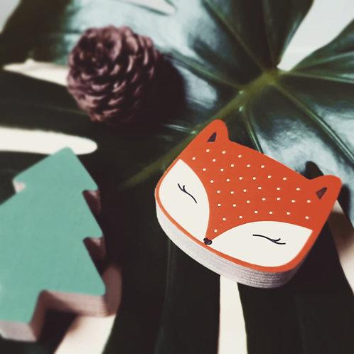 WALL GALLERY - FOX + TREE (orange / green)