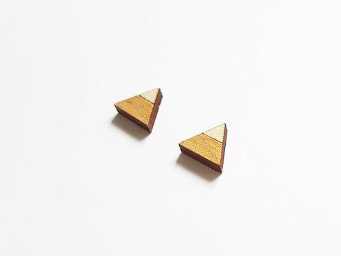 Earrings - triangle split - gold