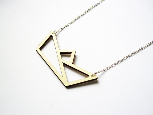 ALIZI.PLAY-WOOD Pendant - paper boat - outline